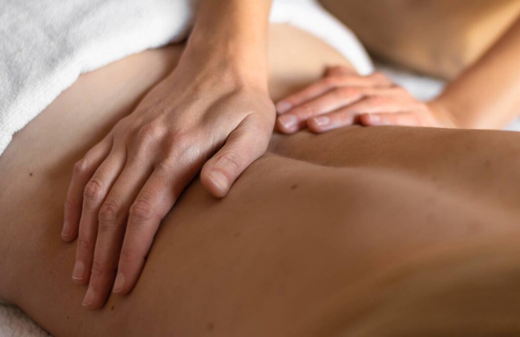 Massage du dos - bien-être