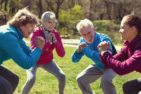 pratiquants en squat