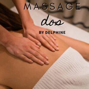 Massage du dos par Delphine au club Gulfstream de Saumur